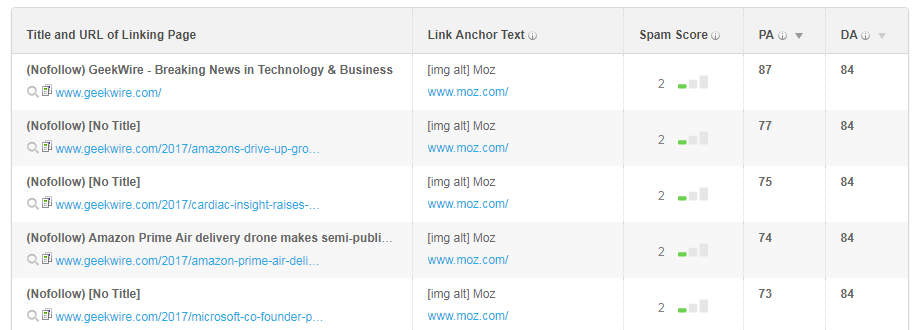 Open Site Explorer Tool for back-links